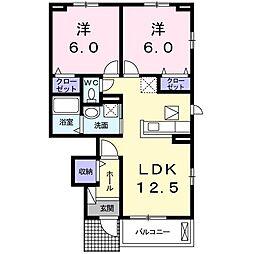 寺の前町アパート[0103号室]の間取り