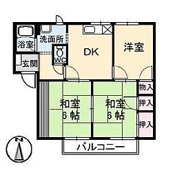 エスパディ A棟[1階]の間取り