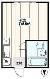 サニーハイツ東長崎1号棟[1階]の間取り