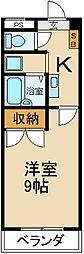 大阪府枚方市北中振2丁目の賃貸マンションの間取り