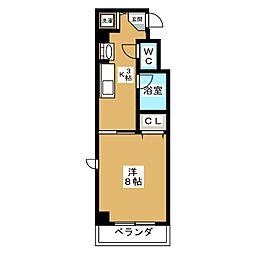 THE BASE 四条大宮[2階]の間取り