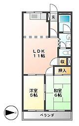 ハイツエスカイア[3階]の間取り
