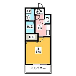 エンクレスト博多駅前III[2階]の間取り