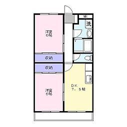 エクセレントNOW[3階]の間取り