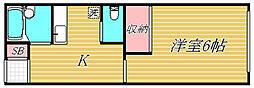 ウイング三軒茶屋[1階]の間取り