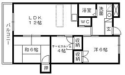 323BLD[402号室]の間取り