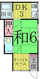 [一戸建] 千葉県流山市向小金2丁目 の賃貸【千葉県 / 流山市】の間取り