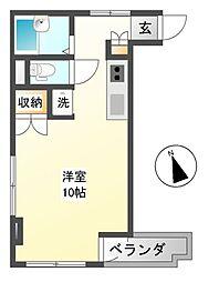 善光寺下マンション[2階]の間取り