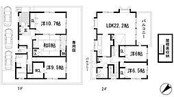 [一戸建] 兵庫県川西市美山台2丁目 の賃貸【/】の間取り