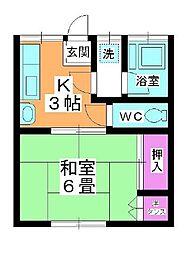 吉野ハウス[202号室]の間取り