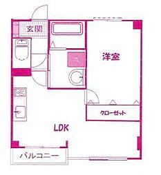 琳和サニーコート[5階]の間取り
