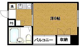 ポートライフ・ケイ[2階]の間取り