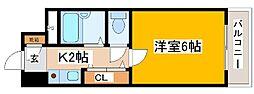 兵庫県神戸市中央区生田町4丁目の賃貸マンションの間取り