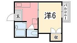ヴィラ北平野Ⅱ[101号室]の間取り
