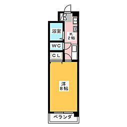 川名グリーンハイツ[1階]の間取り