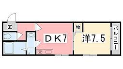 東雲Kマンション[301号室]の間取り