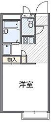愛知県豊明市阿野町滑の賃貸アパートの間取り