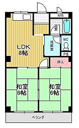グリーンカーサ坂野[1階]の間取り