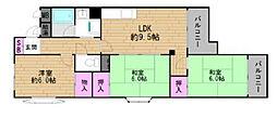 パークハイツ太子堂[3階]の間取り