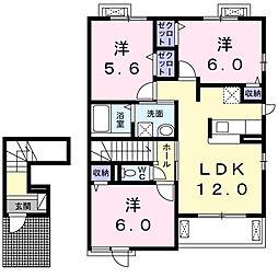 ドリーム ハウスII[2階]の間取り