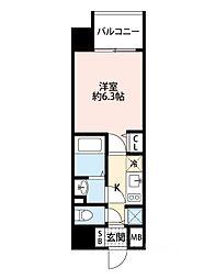 アドバンス大阪ドーム前アヴェニール[7階]の間取り