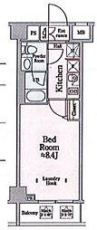 都営浅草線 本所吾妻橋駅 徒歩10分の賃貸マンション 7階1Kの間取り