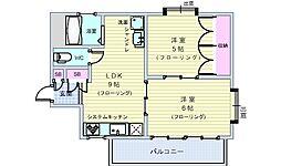 フォーラム豊中・熊野[301号室]の間取り