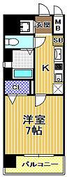 ジュネーゼグラン福島ミラージュ[11階]の間取り