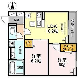 カーサ 堺 南花田 D-room[3階]の間取り