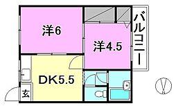 コーポ南江戸[303 号室号室]の間取り