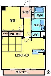 K−TERACCE学研奈良登美ヶ丘[3階]の間取り