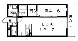 ドミソレイユII[202号室号室]の間取り