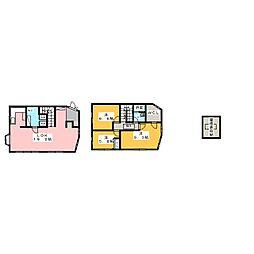 [テラスハウス] 愛知県名古屋市千種区朝岡町3丁目 の賃貸【愛知県 / 名古屋市千種区】の間取り
