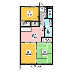 武田ハイツ[2階]の間取り
