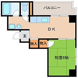 兵庫県尼崎市神田中通3丁目の賃貸マンションの間取り