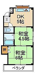大阪府寝屋川市香里西之町の賃貸マンションの間取り