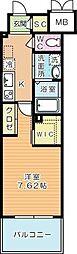 ウイングス西小倉[3階]の間取り