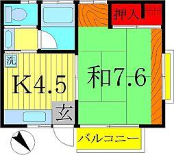 壽荘[2階]の間取り