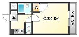 朝日が丘尾田ハイツ[2階]の間取り