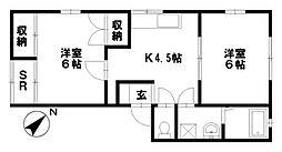 石川県金沢市八日市1丁目の賃貸アパートの間取り