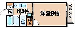広島県広島市安芸区上瀬野南1丁目の賃貸アパートの間取り