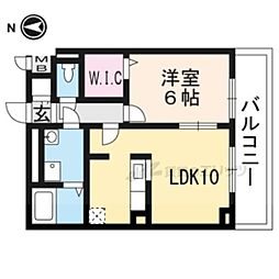 JR東海道・山陽本線 長岡京駅 バス22分 菱川町下車 徒歩7分の賃貸アパート 1階1LDKの間取り