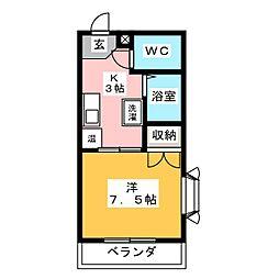 ラハイナハイツパートIII[2階]の間取り