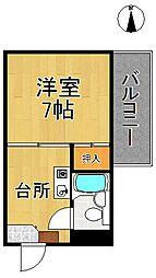 カサクレモナ東舘[4階]の間取り
