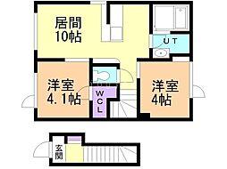 仮)東野幌町(18-3) 2階2LDKの間取り