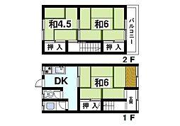 [一戸建] 奈良県生駒市山崎町 の賃貸【/】の間取り