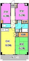 東京都練馬区西大泉4丁目の賃貸マンションの間取り