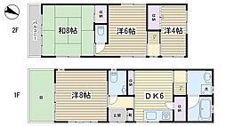 [一戸建] 東京都文京区本駒込2丁目 の賃貸【/】の間取り