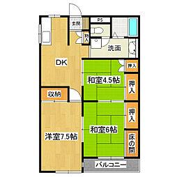 東真鍋アイビーマンション[102号室]の間取り