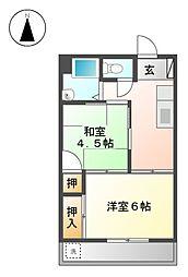 メイゾン平安[4階]の間取り